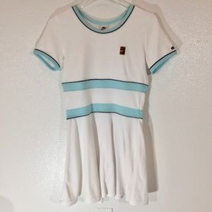 Nike Retro White Terry Cloth Tennis Dress  S (4-6)